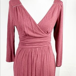 Anthropology Maeve burgundy dress